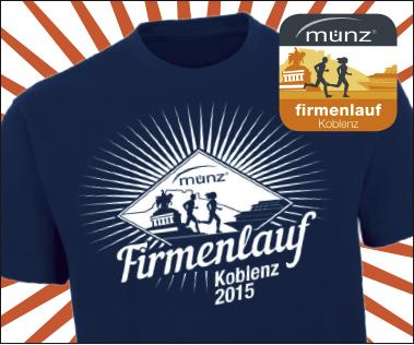 Firmenlauf Koblenz Shirt 2015 Titel