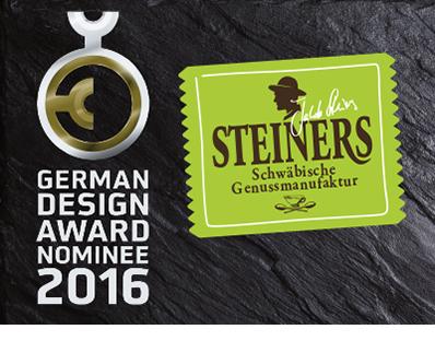 Steiners German Design Award Nomniee 2016