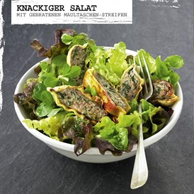 Salat+Maultaschenstreifen