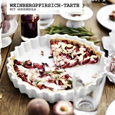 Weinbergpfirsich-Tarte